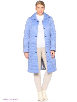 Утепленное пальто MONTSERRAT. Цвет: голубой