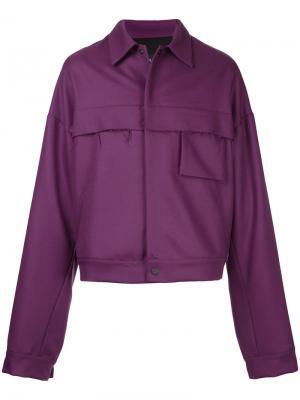 Легкая куртка свободного кроя Berthold. Цвет: розовый и фиолетовый