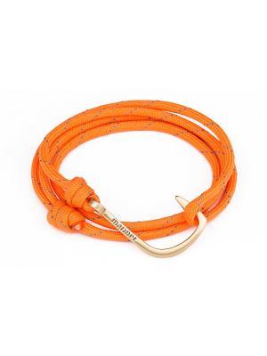 Браслет с крюком Orange light hook Mariner Brand. Цвет: оранжевый