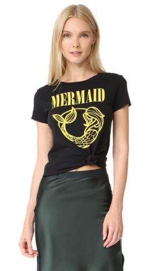 Футболка Mermaid CHRLDR. Цвет: голубой