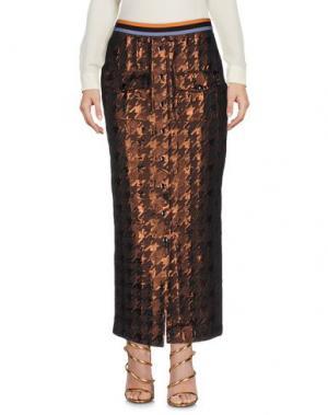 Длинная юбка DV ROMA. Цвет: темно-коричневый