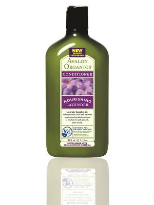 Кондиционер с маслом лаванды, 325 мл Avalon Organics. Цвет: белый