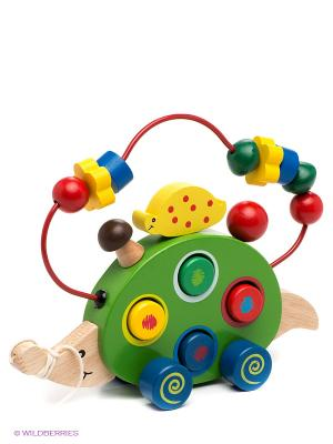 Игрушка Лабиринт-каталка ежик VELD-CO. Цвет: белый, зеленый