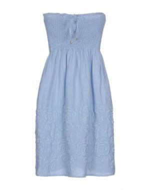 Короткое платье LA FABBRICA del LINO. Цвет: небесно-голубой