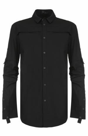 Удлиненная хлопковая рубашка Lost&Found. Цвет: черный