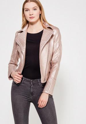 Куртка кожаная Grand Style. Цвет: розовый