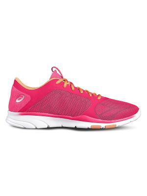 Спортивная обувь GEL-FIT TEMPO 3 ASICS. Цвет: розовый, красный, серебристый