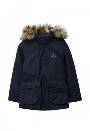 Куртка утепленная Jack Wolfskin. Цвет: синий