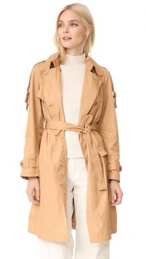 Пальто-тренч Add Down. Цвет: бежевый
