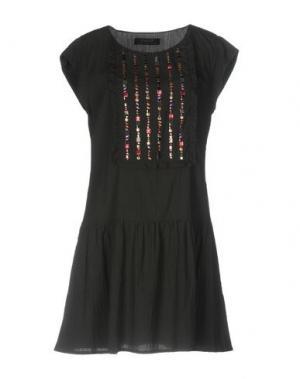 Короткое платье KRISTINA TI. Цвет: стальной серый