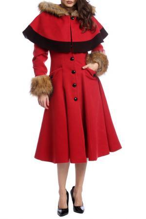 Пальто Moda di Chiara. Цвет: красный