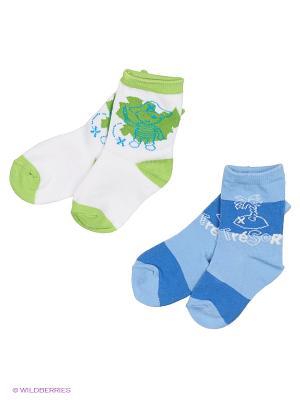 Носки Malerba. Цвет: зеленый, голубой