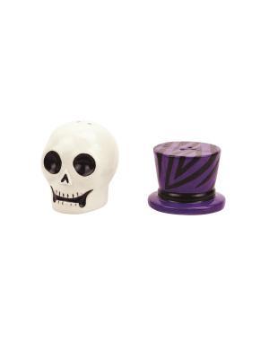 Набор: солонка и перечница Witch Doctor Skull BOSTON. Цвет: белый, фиолетовый