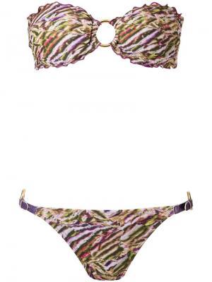 Printed bandeau bikini set Amir Slama. Цвет: многоцветный