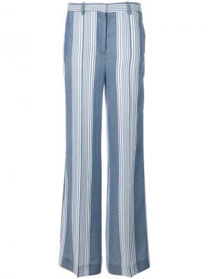Полосатые широкие брюки Victoria Beckham. Цвет: синий