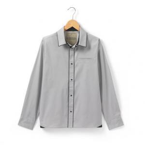 Рубашка R teens. Цвет: серый
