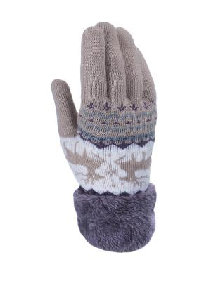 Перчатки женские Cascatto. Цвет: бежевый