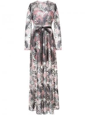 Floral embroidered maxi dress Alexis. Цвет: розовый и фиолетовый