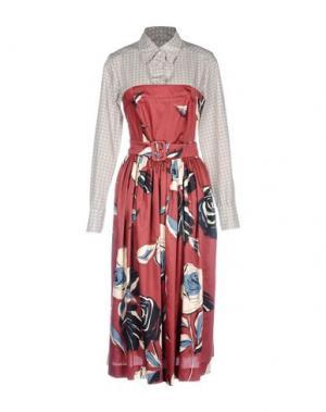 Платье длиной 3/4 MARIAGRAZIA PANIZZI. Цвет: красно-коричневый