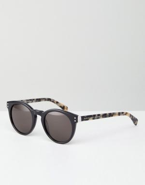 Marc By Jacobs Солнцезащитные очки в круглой оправе. Цвет: черный