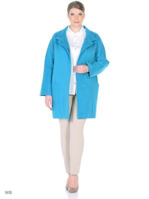 Пальто Бриджит XP-GROUP. Цвет: бирюзовый