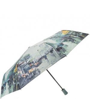 Разноцветный зонт с куполом из сатина TRUST. Цвет: мятный