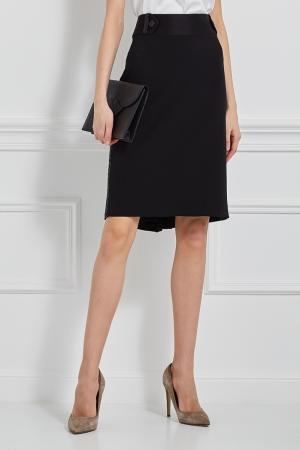Однотонная юбка Collette Dinnigan. Цвет: черный