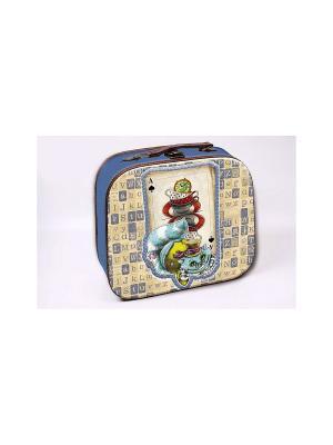 Декоративная шкатулка Волшебный кот Magic Home. Цвет: голубой