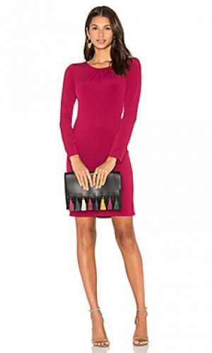Облегающее платье с длинным рукавом hester Velvet by Graham & Spencer. Цвет: фуксия