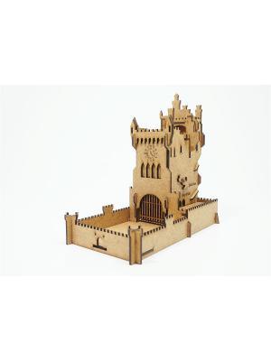 Башня для бросков кубиков Старый Замок, складная, анимационная, 2 режима Правильные игры. Цвет: коричневый