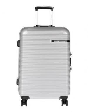 Чемодан/сумка на колесиках MOMO DESIGN. Цвет: светло-серый