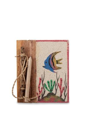 Блокнот с карандашом Морское дно мал. (о.Бали) Decor & gift. Цвет: бежевый
