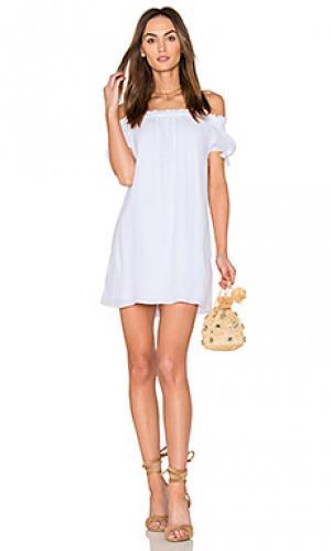 Платье из марлевой ткани jodi Generation Love. Цвет: белый