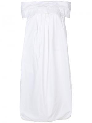 Платье с открытыми плечами Ter Et Bantine. Цвет: белый
