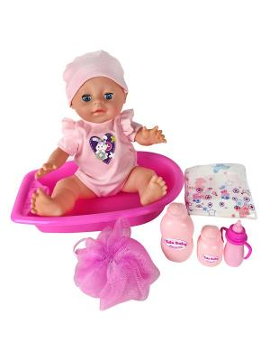 Пупс  с ванной, 35 см Lisa Jane. Цвет: синий, розовый, фуксия