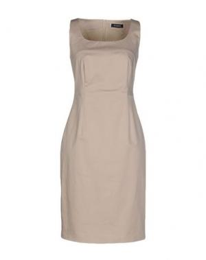 Короткое платье PESERICO. Цвет: бежевый