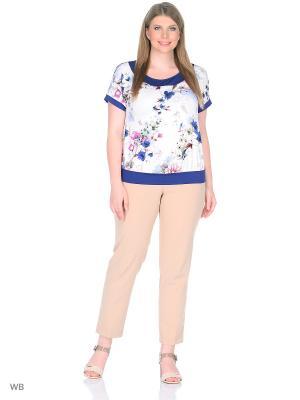 Блузка СТиКО. Цвет: синий, малиновый, молочный