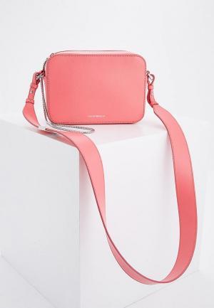 Сумка Emporio Armani. Цвет: розовый