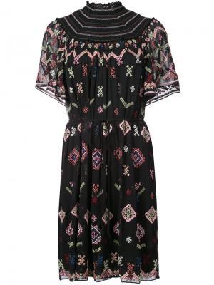 Embroidered dress Needle & Thread. Цвет: чёрный
