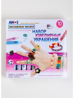 Набор витражных красокЮвелирные украшения AMOS. Цвет: белый