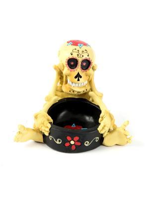 Пепельница Русские подарки. Цвет: черный, светло-желтый
