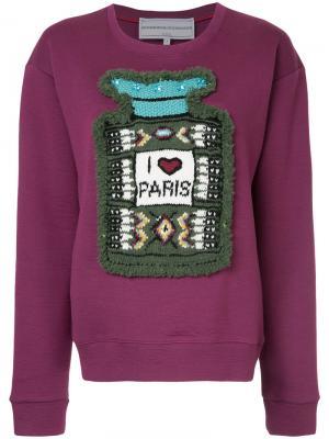 Толстовка I Love Paris Michaela Buerger. Цвет: розовый и фиолетовый