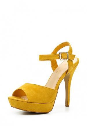 Босоножки Queen Vivi. Цвет: желтый
