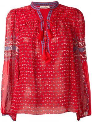 Блузка с узором пейсли Ulla Johnson. Цвет: красный