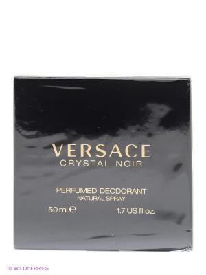 Дезодорант спрей  Versace Crystal Noir. Цвет: прозрачный