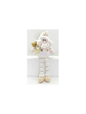 Кукла Дед Мороз 43 см, сид, золото Новогодняя сказка. Цвет: золотистый
