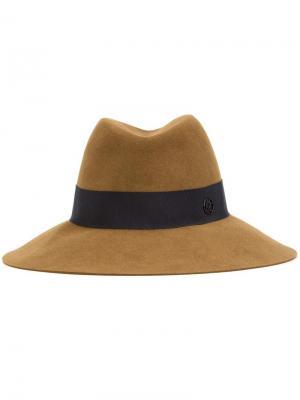 Шляпа федора Maison Michel. Цвет: коричневый