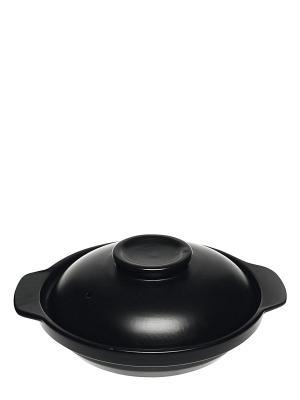 Керамическая кастрюля с крышкой Miolla. Цвет: черный