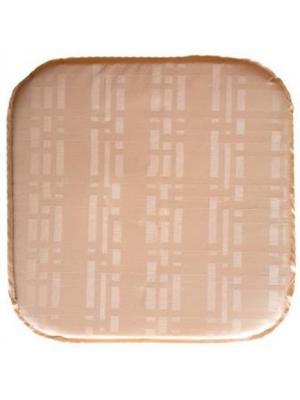 Подушка на табурет Silk, 34х34х2 см DEKORTEX. Цвет: темно-бежевый