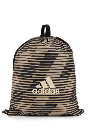 Мешок adidas. Цвет: коричневый